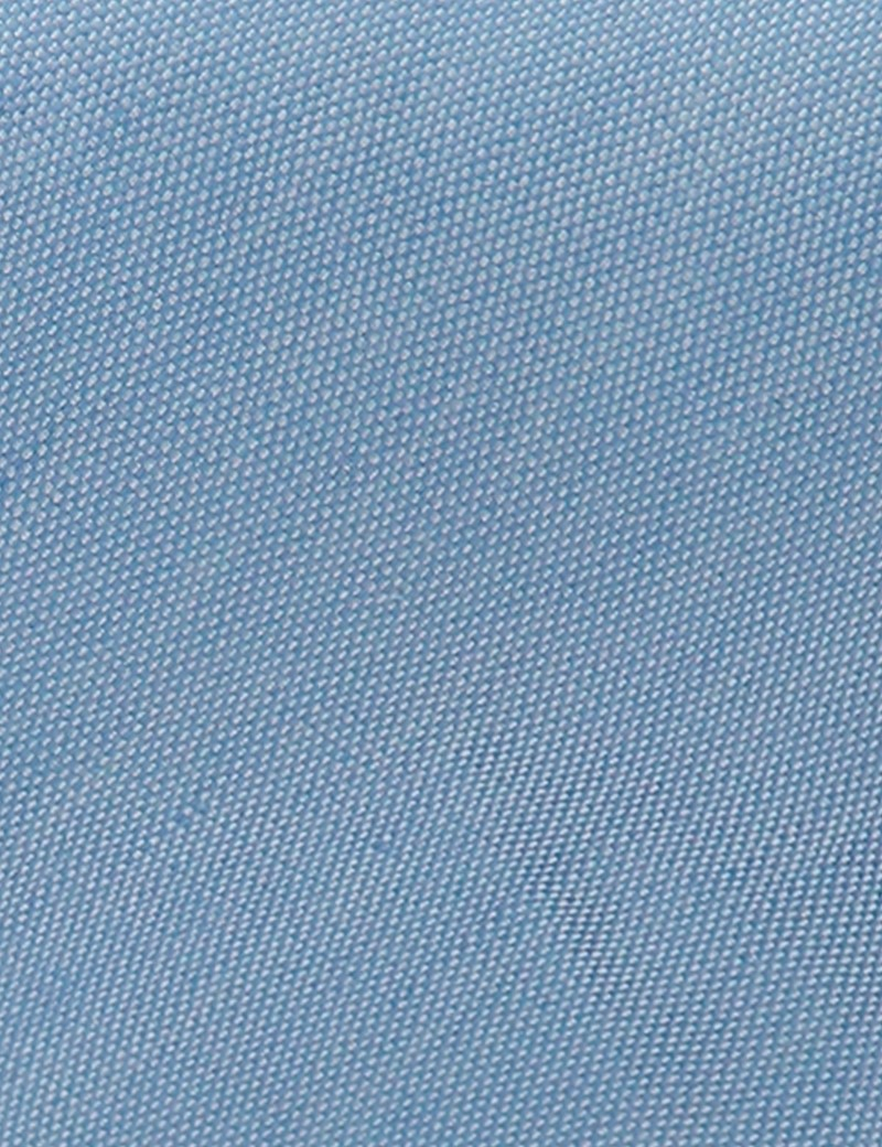 Men's Light Blue Tie - Linen & Silk Blend