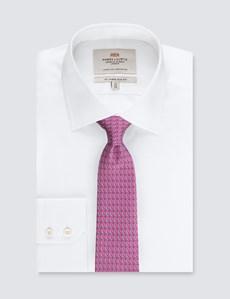 Krawatte – Seide – Standardbreite – Möwenprint pink
