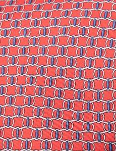 Krawatte – Seide – Standardbreite – Rot Kettenmuster