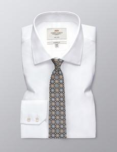 Krawatte – Seide – Standardbreite – Fliesen blau & gelb
