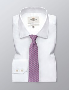 Men's Light Pink Horseshoe Print Tie - 100% Silk
