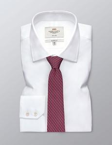 Men's Red Horseshoe Print Tie - 100% Silk