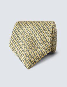 Krawatte – Seide – gelb Hufeisen