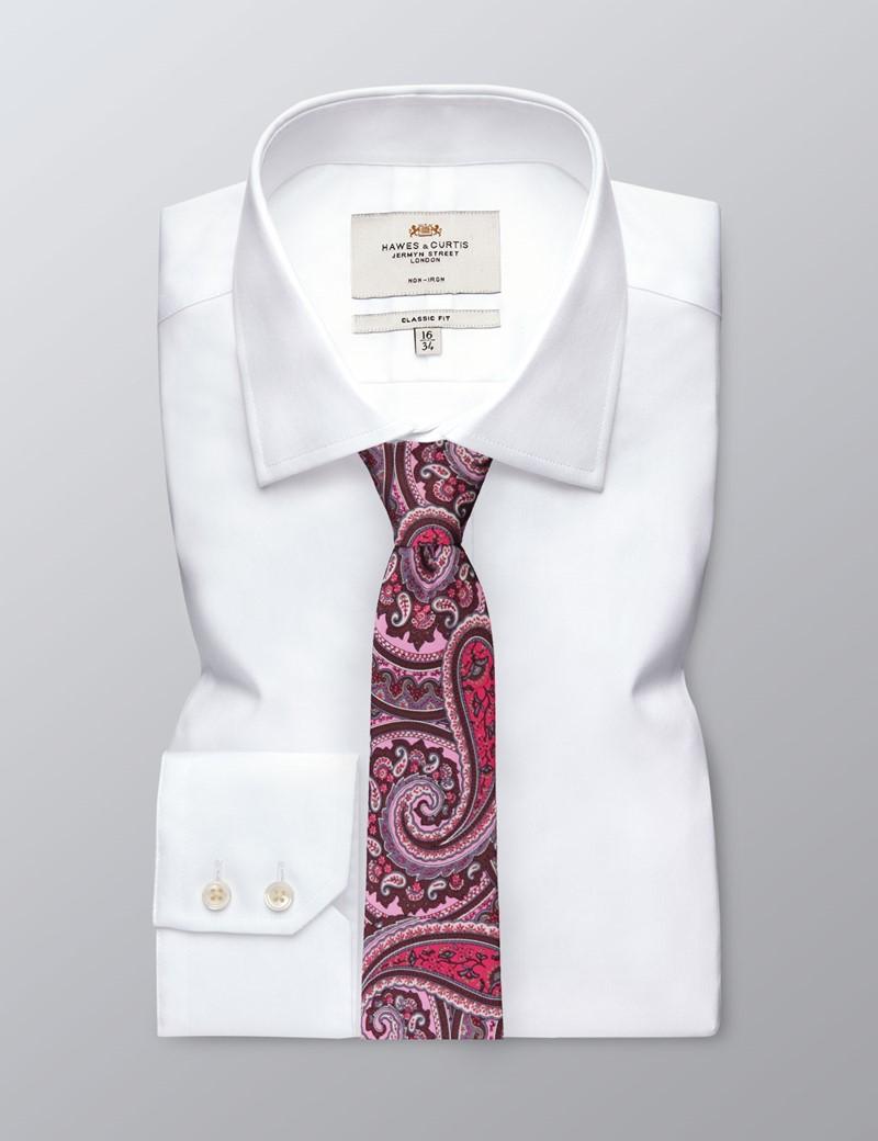 Krawatte – Seide – Standardbreite – rosa Paisley