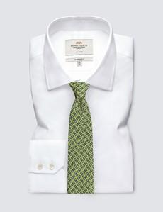 Men's Yellow Geometric Links Tie - 100% Silk