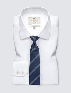 Men's Navy & Brown Textured Stripe Tie - 100% Silk