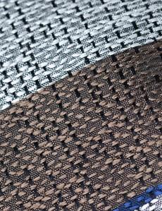 Men's Brown Marl Stripe Tie - 100% Silk