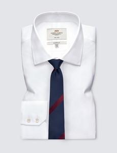Men's Navy & Wine Contrast Stripe Tie - 100% Silk