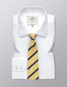 Men's Yellow Bright Stripe Tie - 100% Silk