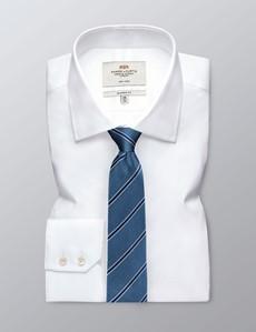 Krawatte – Seide – Standardbreite – Collegestreifen hellblau