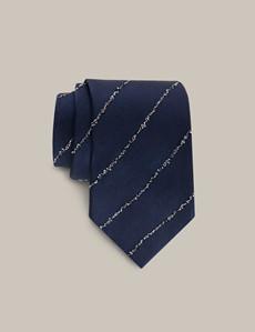 Men's Navy Silk Blend Tie