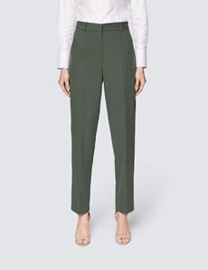 Dame Anzughose – Slim Fit – hochgeschnitten – olive