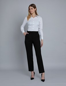 Women's Black Twill Trousers