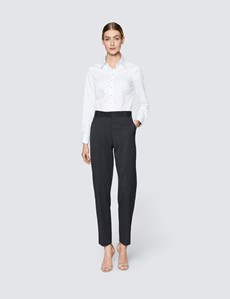 Women's Charcoal Twill Trousers