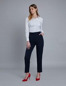 Women's Navy Twill Trousers