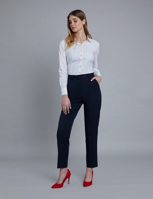 Women's Navy Twill Trousers