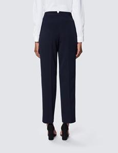 Dame Anzughose – Slim Fit – hochgeschnitten – navy