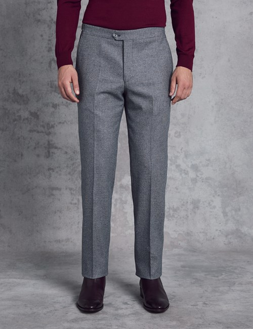 Men's Italian Flannel Blue Check Trousers – 1913 Collection