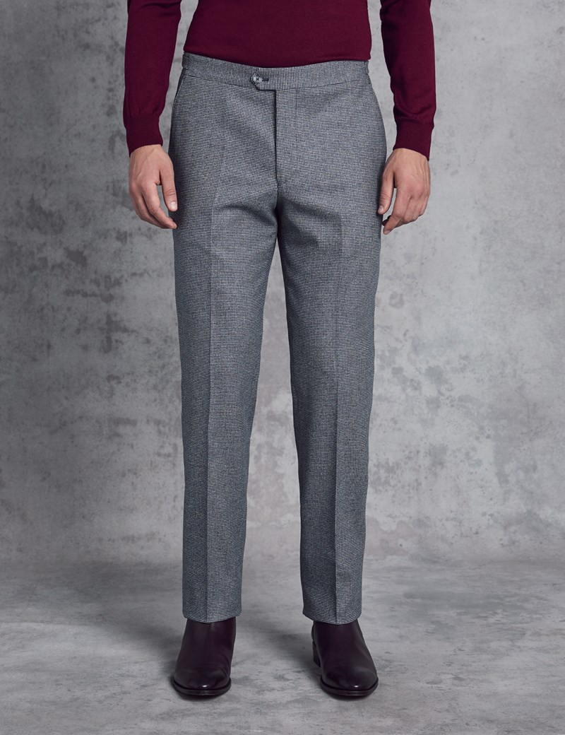 Men's Italian Flannel Blue Check Pants – 1913 Collection