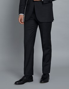 Men's Charcoal & Navy Prince of Wales Check Extra Slim Fit Suit Trousers