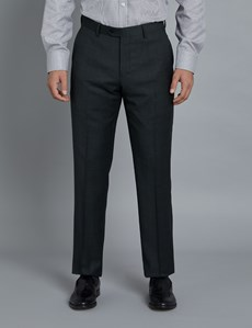 Men's Charcoal & Navy Prince of Wales Check Slim Fit Suit Trousers