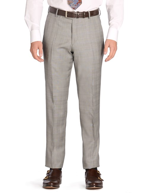 Men's Grey Prince of Wales Check Slim Fit Suit Trouser - 1913 Collection