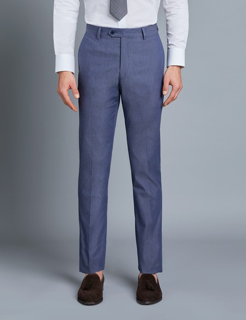 Men's Blue Italian Cotton Trousers - 1913 Collection