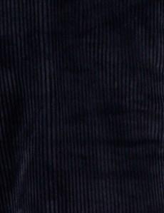 Men's Navy Regular Fit Corduroy Pants