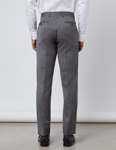 Men's Grey Striped Italian Wool Morning Suit Trousers – 1913 Collection