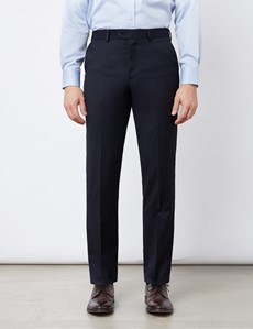 Men's Navy Tailored Fit Italian Suit Trousers - 1913 Collection