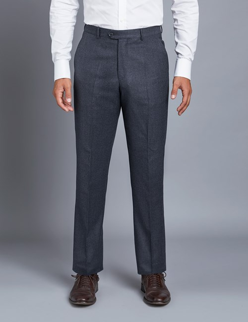 Men's Blue Tailored Fit Italian Suit Trousers - 1913 Collection