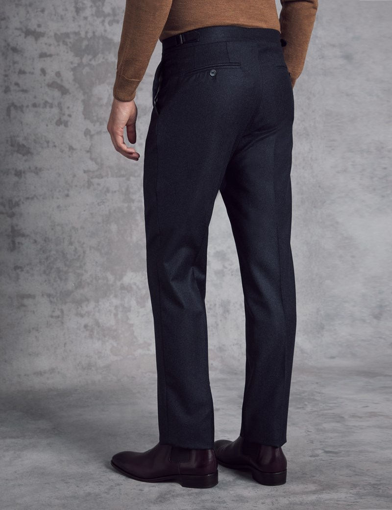 Men's Italian Flannel Blue Trousers – 1913 Collection