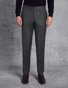 Men's Italian Flannel Charcoal Trousers – 1913 Collection