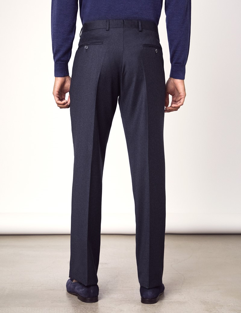 Men's Blue Italian Flannel Trousers – 1913 Collection
