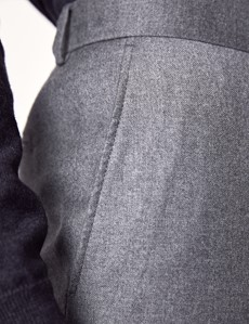 Men's Light Grey Italian Flannel Trousers – 1913 Collection