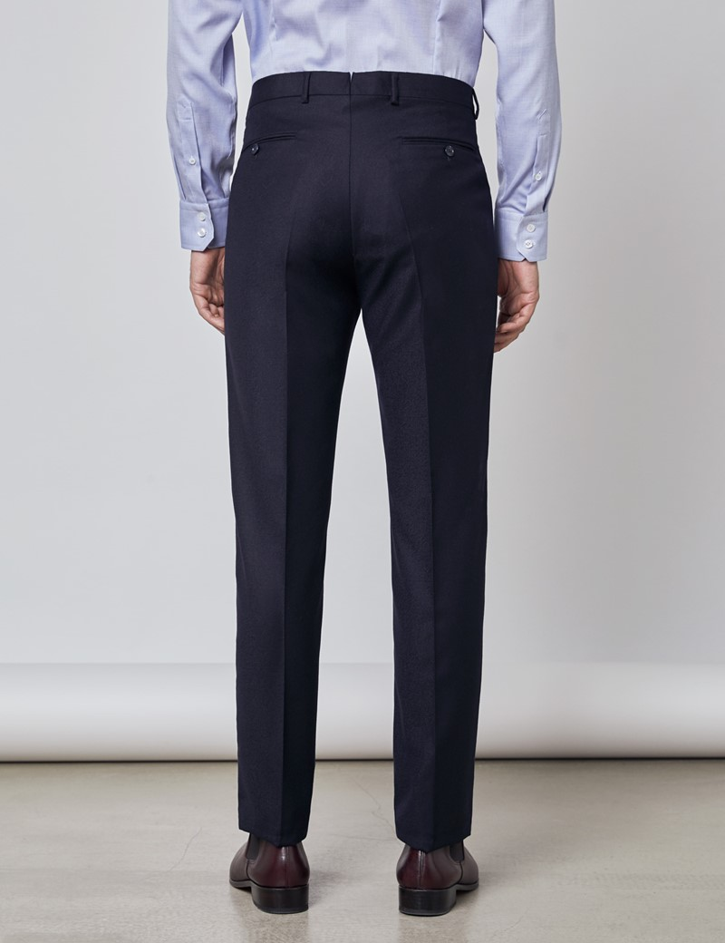 Men's Navy Italian Flannel Trousers – 1913 Collection