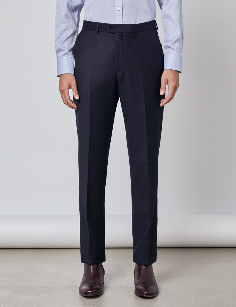 Men's Navy Italian Flannel Pants – 1913 Collection