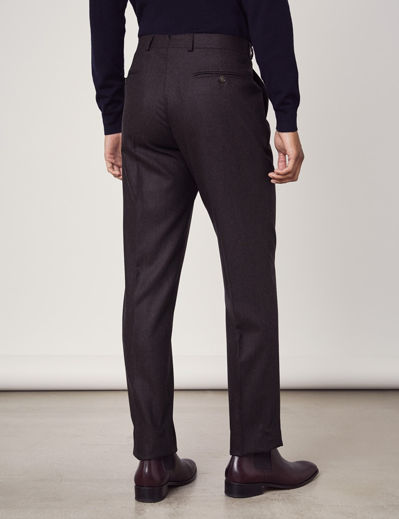 Men's Plum Italian Flannel Trousers – 1913 Collection