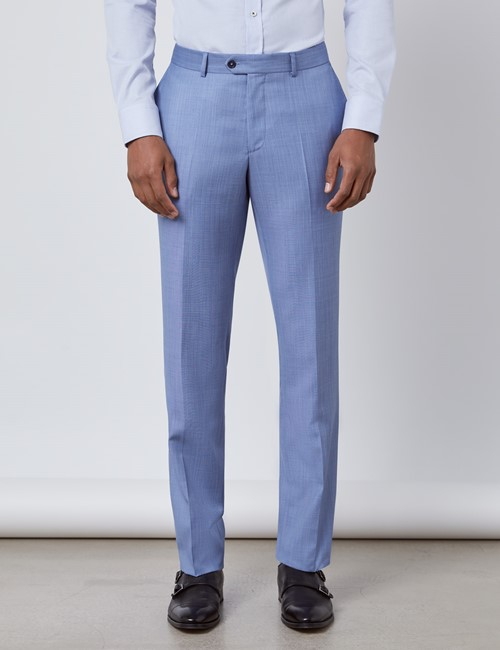 Men's Light Blue Slim Fit Italian Suit Trousers – 1913 Collection