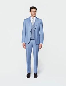 Men's Light Blue Slim Fit Italian Suit Trousers – 1913 Collection