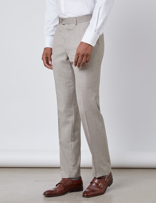 Men's Stone Slim Fit Italian Suit Trousers – 1913 Collection