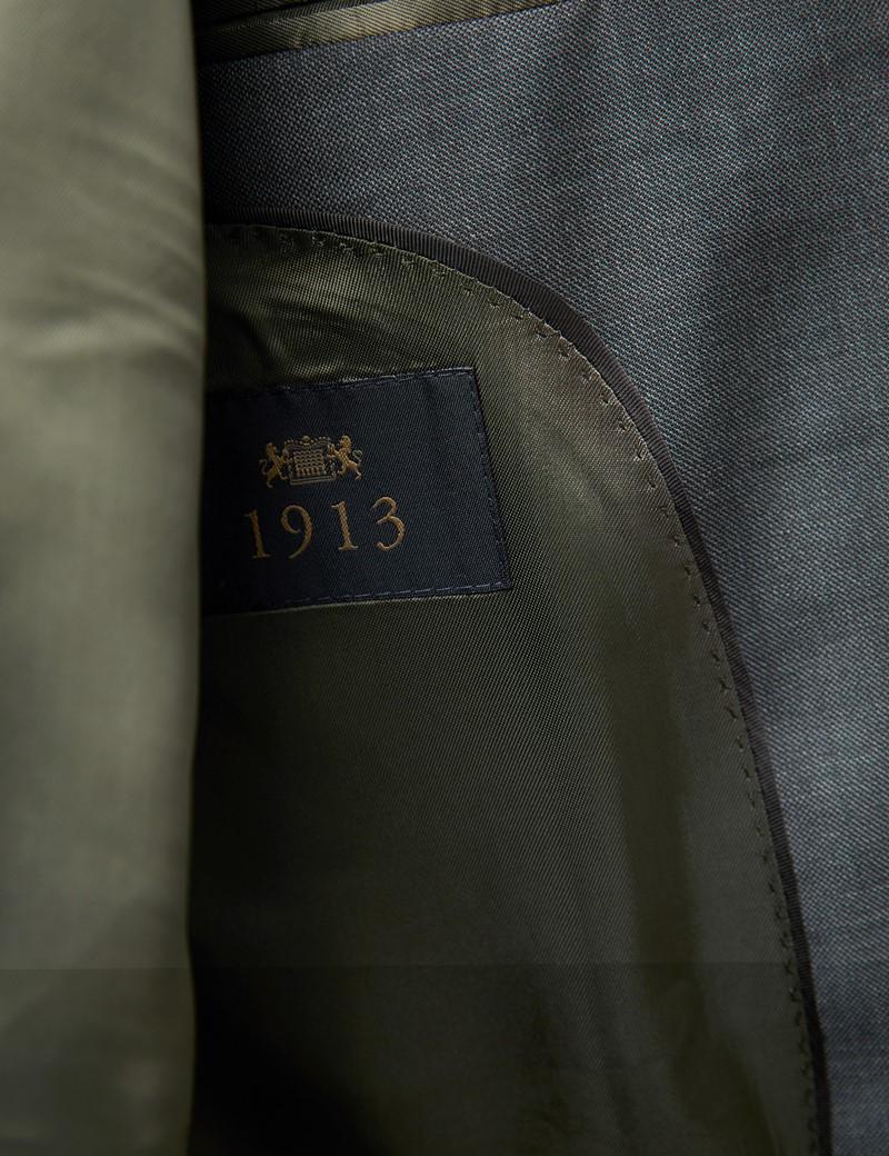 Men's Green Tailored Fit Italian Suit Trousers – 1913 Collection