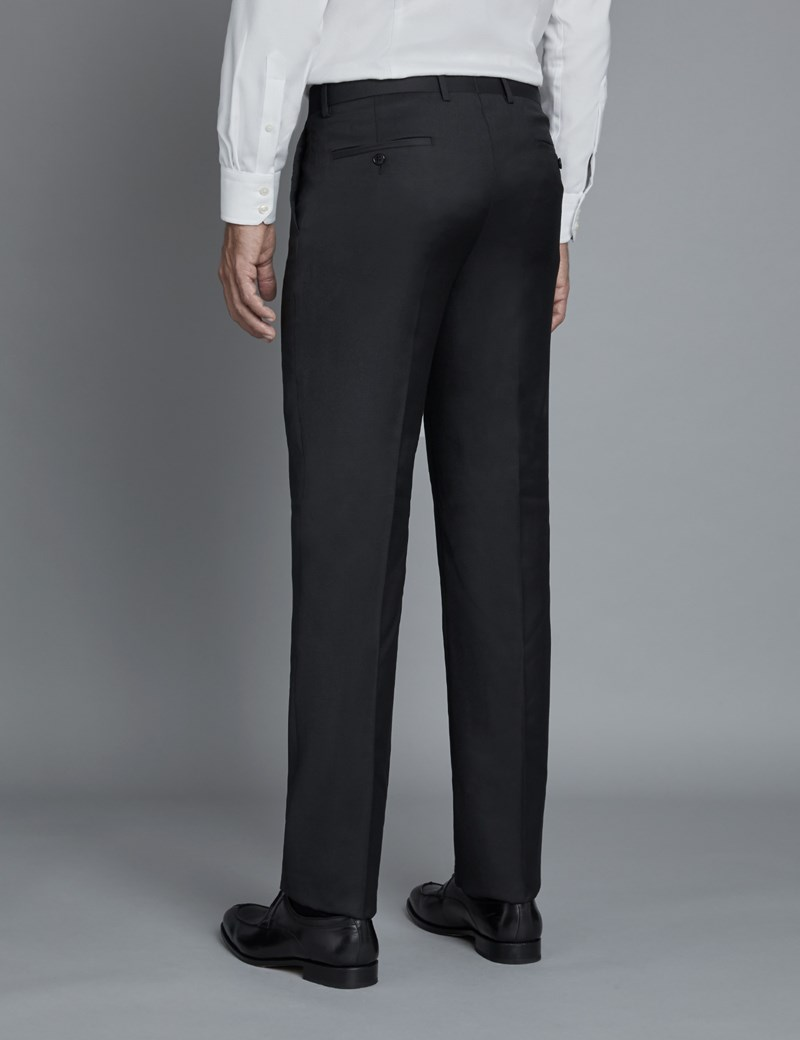 Men's Black Twill Extra Slim Fit Suit Trousers