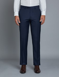 Men's Royal Blue Twill Extra Slim Fit Suit Pants