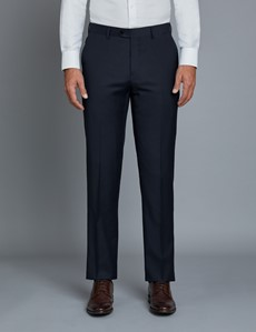 Men's Navy Twill Extra Slim Fit Suit Trousers