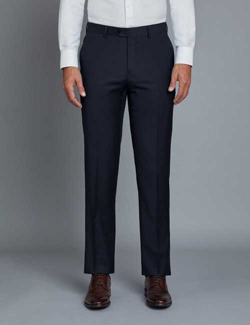 Men's Navy Twill Extra Slim Fit Suit Pants