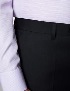 Men's Black Twill Slim Fit Suit Trouser
