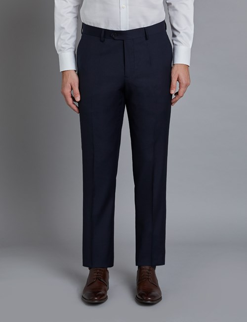 Men's Navy Twill Slim Fit Suit Pants