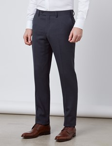 Men's Charcoal Slim Fit Travel Suit Pants