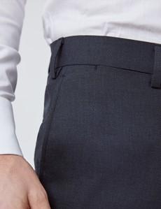 Men's Charcoal Slim Fit Commuter Suit Trousers